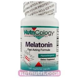 NutriCology Melatonin - 2.6 mg - 100 Capsules