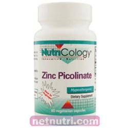 Allergy Research nutricology Zinc Picolinate 60 Caps by Nutricology/ Allergy Research Group
