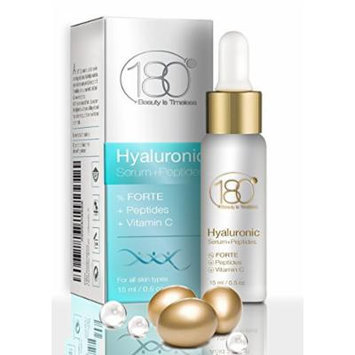 180 Cosmetics Forte Hyaluronic Acid Serum with Peptides, Vitamin C - 0.5 oz