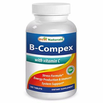 Best Naturals B-Complex with Vitamn C 180 Tablets