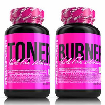 SHREDZ® Shape & Tone Stack for Women - Tone Fat, Lose Weight, Best Ingredients,(Pack of 2)