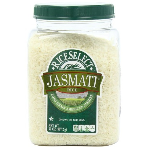 Royal Jasmine Rice RiceSelect Jasmati Rice, 32-Ounce Jars (Pack of 4)