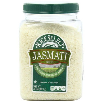 Royal Jasmine Rice RiceSelect Jasmati Rice, 32-Ounce Jars (Pack of 4)