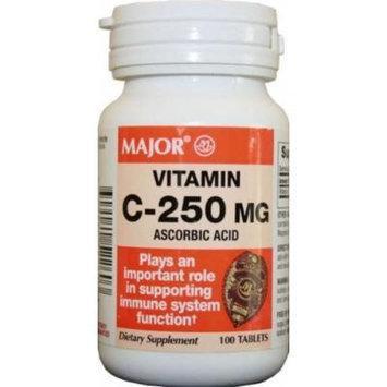 Major Vitamin-C 250 mg Ascorbic Acid Tablets, 100 CT