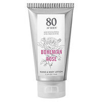 80 Acres Hand and Body Lotion Tube, Bohemian Rose, 2.5 oz