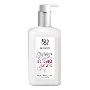 80 Acres Hand and Body Lotion, Bohemian Rose, 10 oz