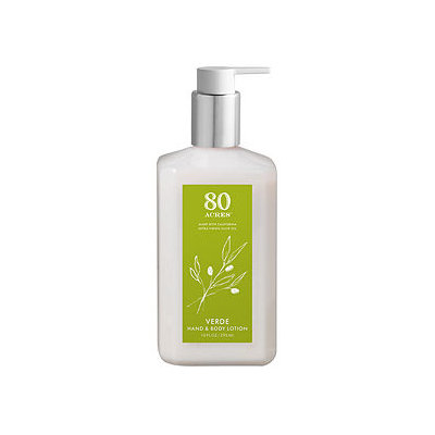 80 Acres Hand and Body Lotion, Verde, 10 oz
