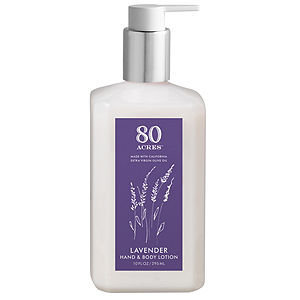 80 Acres Hand and Body Lotion, Lavender, 10 oz