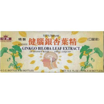 Royal King Ginkgo Biloba Leaf Extract 10ml X 30 Bottles