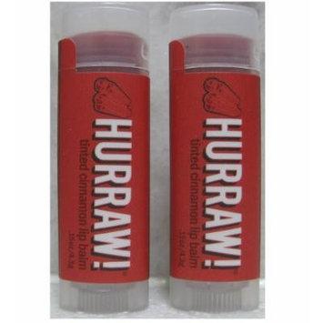 Hurraw! Balm, Lip Balm, .15 Oz (4.3 G) 2-pack (Cinnamon - tinted)