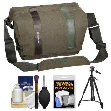 Vanguard Vojo 28 Digital SLR Camera Shoulder Bag (Green) with Tripod + Cleaning Kit