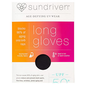 Sundriven Long Touchscreen Friendly Gloves, XS/S, Black, 1 ea