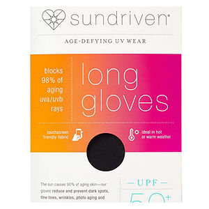 Sundriven Long Touchscreen Friendly Gloves, M/L, Black, 1 ea