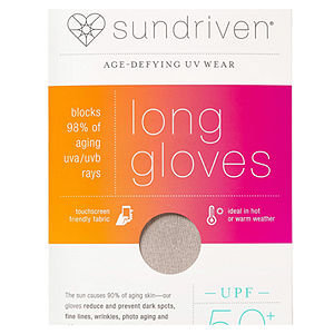 Sundriven Long Touchscreen Friendly Gloves, M/L, Sand, 1 ea