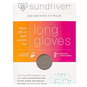 Sundriven Long Touchscreen Friendly Gloves, M/L, Stone, 1 ea