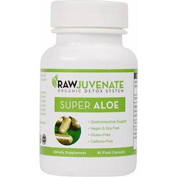 Raw Green Organics - RawJuvenate - Super Aloe - Gastrointestinal Support - 45 Plant Capsules