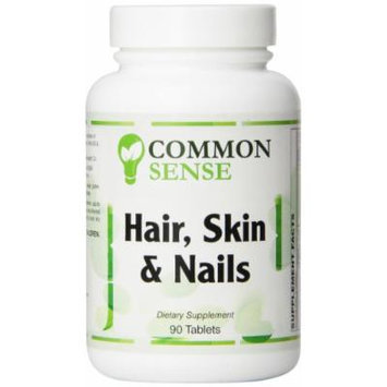 Common Sense Hair Skin and Nails Formula Tablets, 90 Count