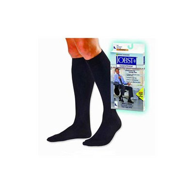 Jobst 110784 Mens Dress 8-15 mmHg Closed Toe Knee Highs - Size & Color- Navy Small