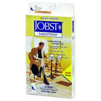Jobst 110332 Mens 8-15 mmHg Closed Toe Knee Highs - Size & Color- White Medium