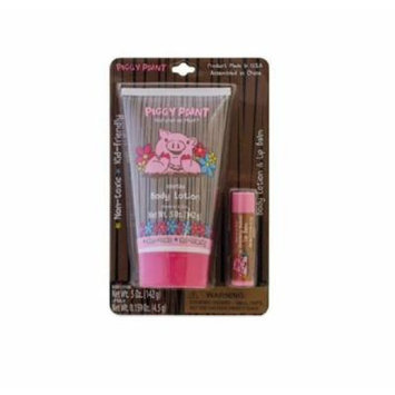 Piggy Paint Body Lotion (5 Oz) & Lip Balm (0.159 Oz)