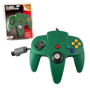 TTX Tech Wired Controller For Nintendo 64 System Green