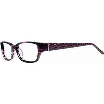 ELLEN TRACY Eyeglasses SALZBURG Eggplant Horn 48MM