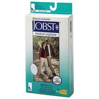 Jobst 110492 ActiveWear 20-30 mmHg Firm Support Unisex Athletic Knee Highs - Size & Color- Cool White X-Large