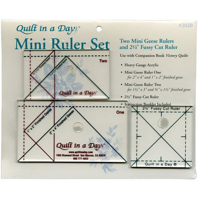 Quilt In A Day Mini Ruler Set-3 Pieces