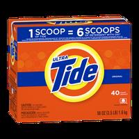 Tide Ultra Original Scent Powder Laundry Detergent 40 Loads 56 Oz