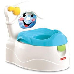 Fisher Price Fisher-Price Learn-to-Flush Potty White/Blue