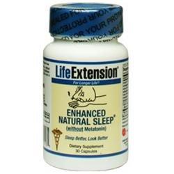 Life Extension - Enhanced Natural Sleep without Melatonin - 30 Capsules