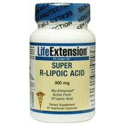 Life Extension Super R-Lipoic Acid, 300mg, Vegetarian Capsules
