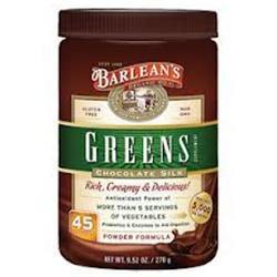 Barlean's Organic Oils Greens, Chocolate Silk Barlean's 9.5 oz Powder