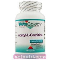 Allergy Research nutricology Acetyl L-Carnitine 500 mg 100 Caps by Nutricology/ Allergy Research Gr