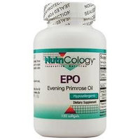 NutriCology EPO Evening Primrose Oil - 120 Softgels
