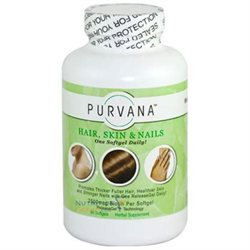 Purvana Hair, Skin & Nails, Capsules, 90 ea