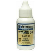 Life Extension Vitamin D3 - 2000 IU - 1 fl oz