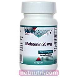 Nutricology - Melatonin 20 mg. - 60 Vegetarian Capsules