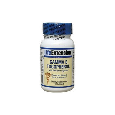 Life Extension Gamma E Tocopherol with Sesame Lignans - 60 Softgels