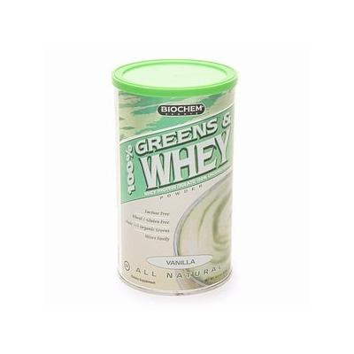 Biochem 100% Greens & Whey Protein Isolate Powder, Vanilla 10.3 oz (293 g)