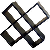 Ore Crisscross Media Wall Storage, Black