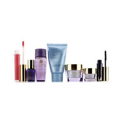 Travel Set: Makeup Remover 30ml + Optimizer 30ml + Day Cream 15ml + Serum 7ml + Eye Cream 5ml + Mascara #01 + Lip Gloss