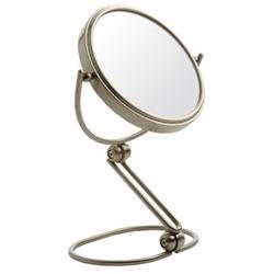 Jerdon MC449N 10X-1X Tri-Folding Travel Mirror in Nickel