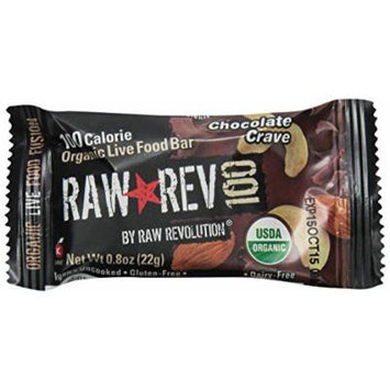 Raw Revolution 100 Calorie Organic Live Food Bar - Chocolate Crave, 0.8 Ounce (Pack of 20)