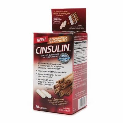 CinSulin Water Extract of Cinnamon, Advanced Strength, Capsules 60 ea