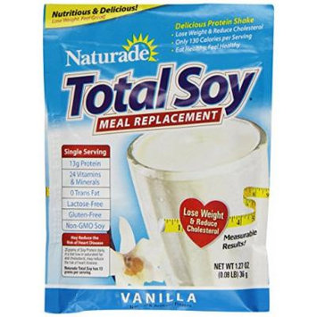 Naturade Total Soy Supplement, Vanilla, 12 Count