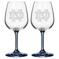NCAA Notre Dame Fighting Irish Boelter Brands 2 Pack Satin Etch Wine Glass