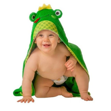 Zoocchini 11202 Flippy the frog Hooded Towel - 30 x 30 in.