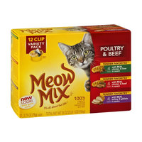 Meow Mix Poultry & Beef Variety Pack - 12 CT