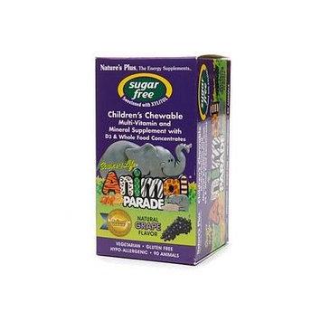 Nature's Plus Animal Parade Children's Chewable Multi-Vitamin, Sugar Free, Grape 90 ea